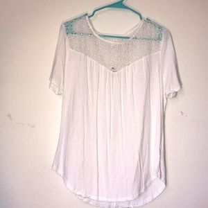 Old Navy white lace top